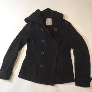 Aeropostale women's pea coat with hood size Medium